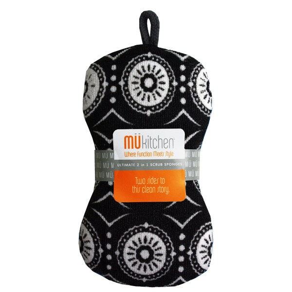 MUkitchen Marrakesh Black Scrub Sponge