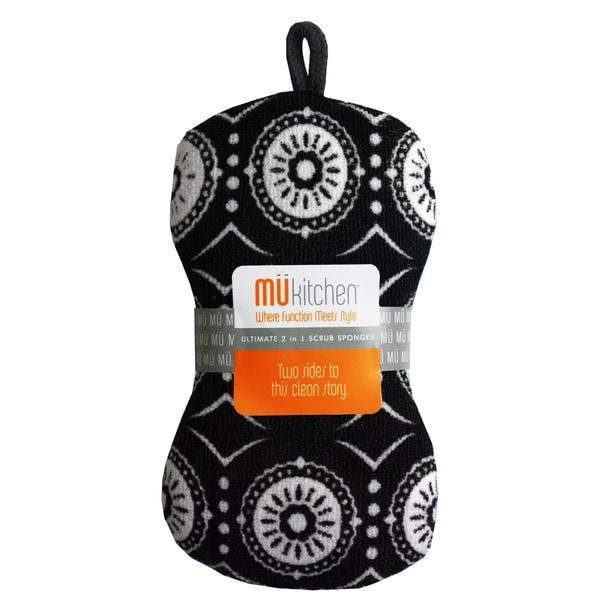 MUkitchen Marrakesh Black Scrub Sponge