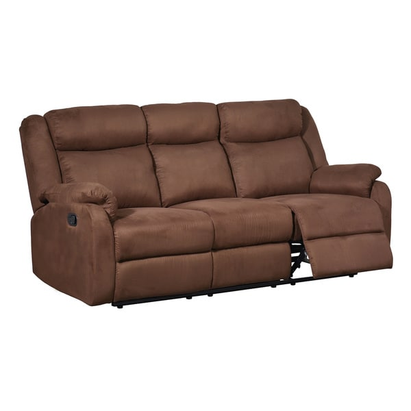 Chocolate Dual Reclining Microfiber Sofa 16146553 Shopping Great Deals On