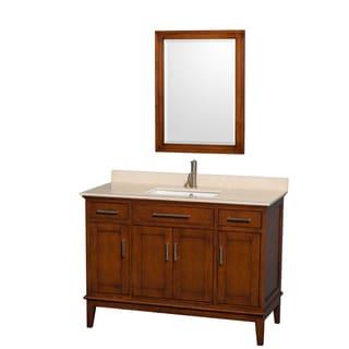 Wyndham Collection Hatton 48-inch Light Chestnut Single Vanity