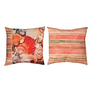 Shell Collage 19-inch Reversible Throw Pillow
