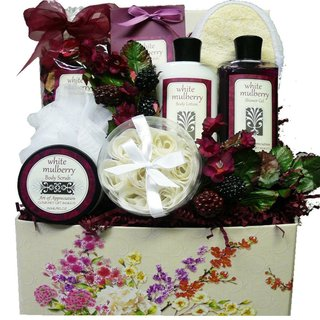 Art De' Moi White Mulberry Spa Bath Body Care Package Gift Basket Set