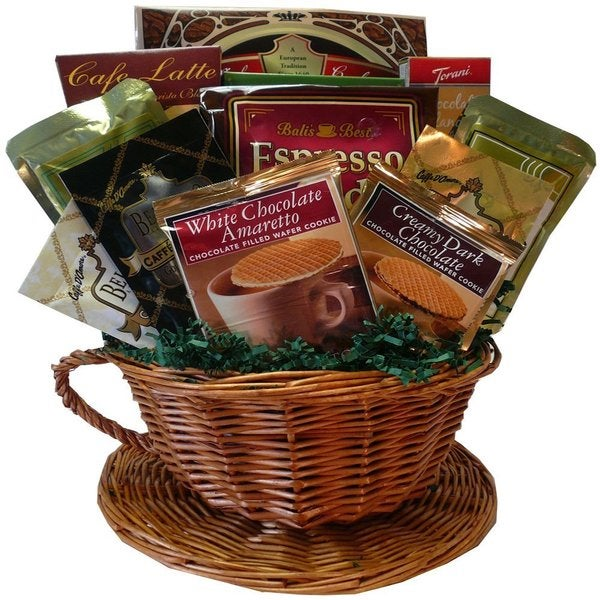 Cafe Comforts Premium Coffee/ Cookies Gift Basket 12718900