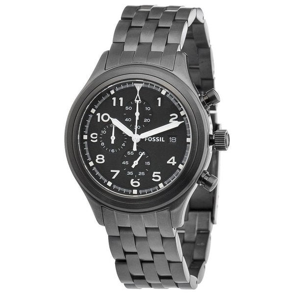 Fossil Men's JR1439 Compass Chronograph Stainless Steel Watch