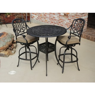 Rosedown 3-piece Cast Aluminum Outdoor Bar Set