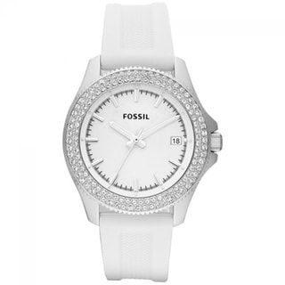 Fossil Women's AM4462 Retro Traveler Three Hand Silicone Watch