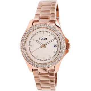 Fossil Women's AM4454 Retro Traveler Rose Gold-tone 36mm Stainless Steel Watch