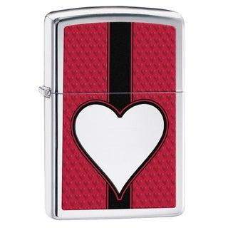 Zippo Chrome Heart High Polish Chrome Lighter 28466