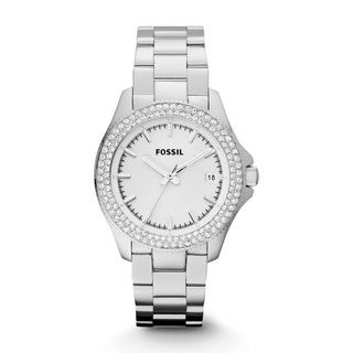 Fossil Women's AM4452 Retro Traveler Silver Watch