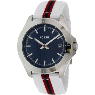 Fossil Women's AM4480 Retro Traveler Three Hand Nylon Watch