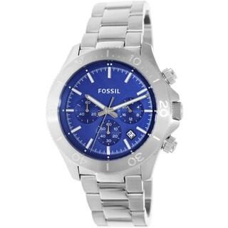Fossil Men's CH2894 Retro Traveler Quartz Silver Watch
