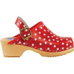 Girls' Cape Clogs Red Dots Red