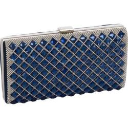 Women's J. Furmani 50377 Elegant Stone Hardcase Clutch Navy Iris