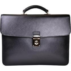 Royce Leather Kensington Double Gusset Briefcase Black