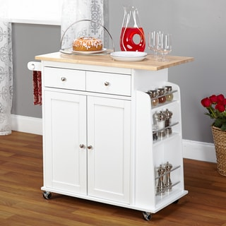 Simple Living White Michigan Kitchen Cart