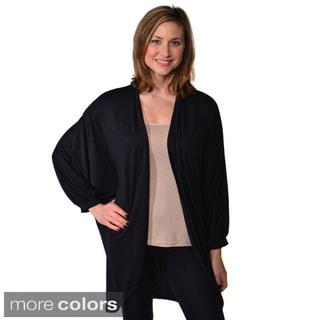24/7 Comfort Apparel Women's Dolman Sleeve Oversized Circle Shrug