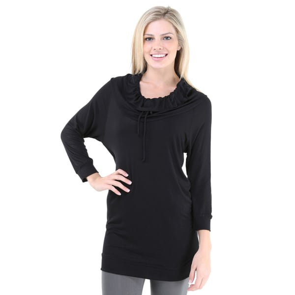 24/7 Comfort Apparel Women's Raglan Sleeve Oversized Tunic Top