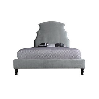 Passion Platinum Faux Suede Upholstered Demi Bed