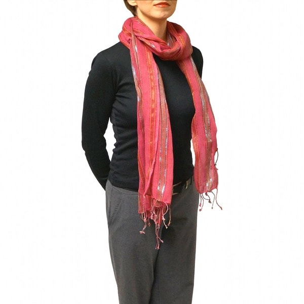 Pink Shimmer Fashion Scarf (India)