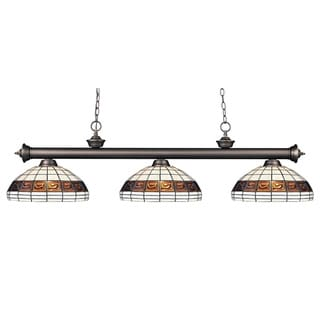 Riviera 3-light Olde Bronze Domed Billiard Light Fixture