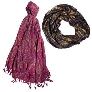 Women's Boho Summer Peacock-print Scarf (India)