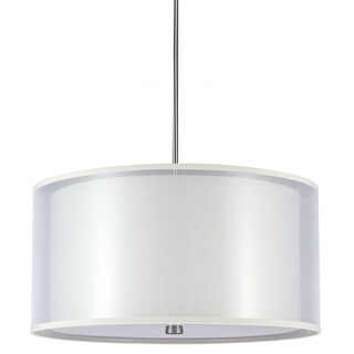 Jordyn 4-light Dual-shade Brushed Nickel Pendant