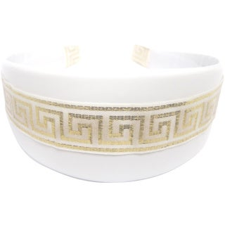 White/ Gold Geometric-print Headband