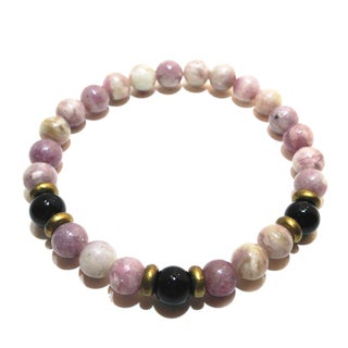 Pink/ Black Tourmaline Positive Energy Bracelet