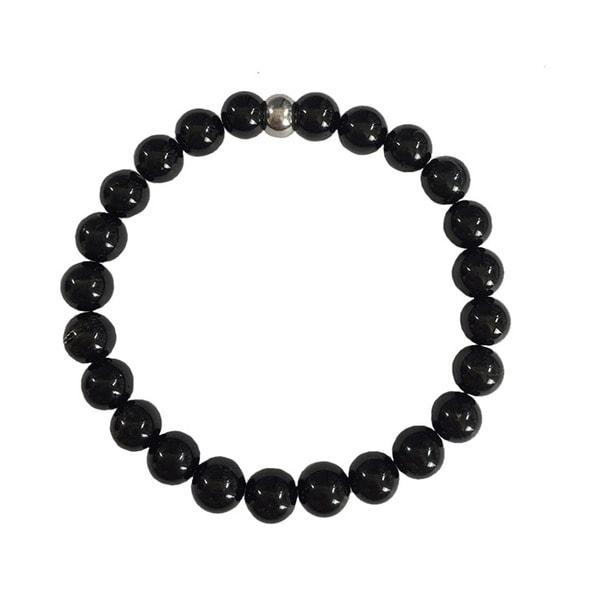 Black Tourmaline Beaded Protection Bracelet