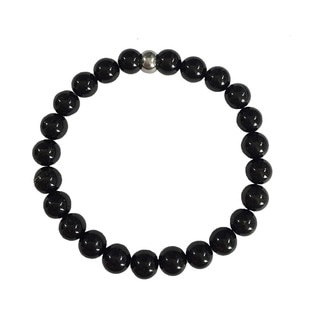 Black Tourmaline Beaded Protection Bracelet