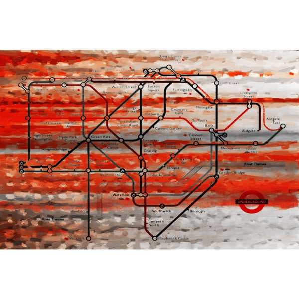 Marmont Hill Art Collective 'London Tube' Canvas Art
