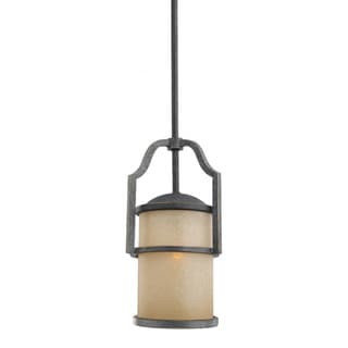 Roslyn 1-light Flemish Bronze Fluorescent Mini Pendant