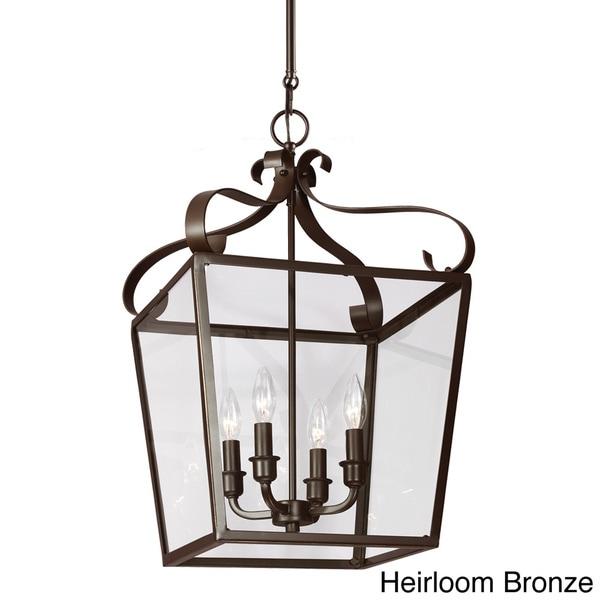Foyer Lighting Overstock : Lockheart light clear glass shade hall foyer lantern