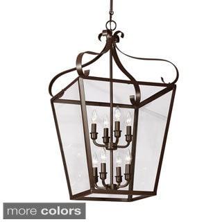 Lockheart 8-light Clear Glass Shade Hall/ Foyer Lantern