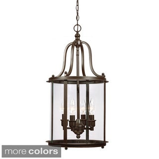 Gillmore 4-light Clear Glass Shade Hall/ Foyer Lantern