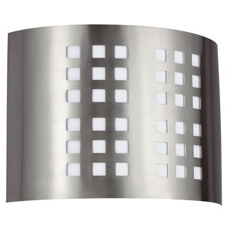 Grid 2-light Quad-pin Brushed Nickel ADA Sconce
