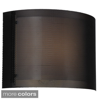 Horizonal Metal Mesh 1-light ADA-approved Wall Sconce