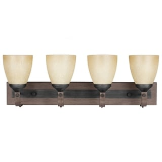 Corbeille Stardust and Creme 4-light Wall/ Bath Vanity Fixture