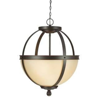 Sfera 3-light Autumn Bronze/ Cafe Tint Glass Pendant