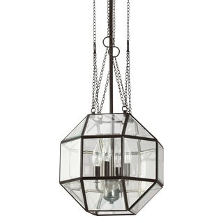 Lazlo Medium 4-light Heirloom Bronze/ Clear Glass Pendant