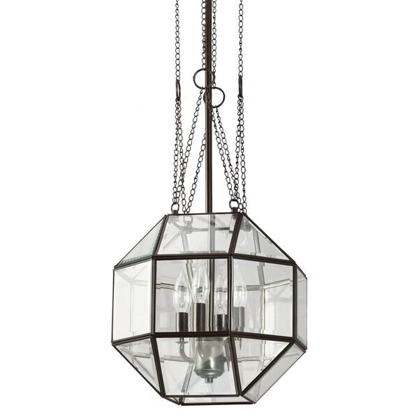 Lazlo Medium 4-light Heirloom Bronze/ Clear Glass Pendant