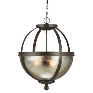 Sfera 3-light Autumn Bronze/ Mercury Glass Pendant