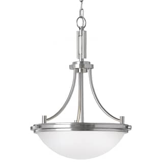 Winnetka 3-light Brushed Nickel/ Satin Etched Glass Pendant