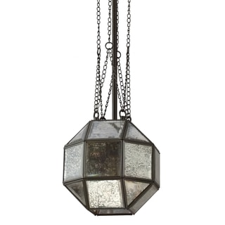 Lazlo Small 1-light Heirloom Bronze Mercury Glass Pendant