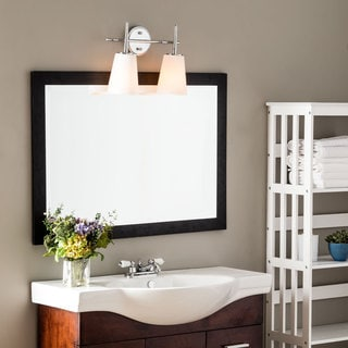Driscoll 2-light Etched White Glass Shade Wall Vanity
