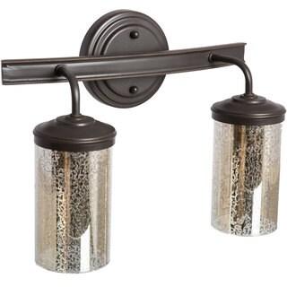 Sfera 2-light Autumn Bronze/ Mercury Glass Vanity Fixture