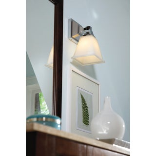 Denhelm 1-light Etched Glass Shade Wall/ Bath Sconce