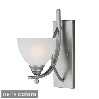 Vitelli 1-light Satin Etched Glass Shade Bath/ Wall Sconce