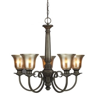 Blayne 5-light Platinum Oak Spindle Chandelier
