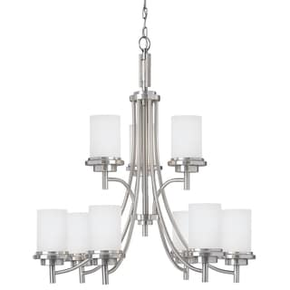 Winnetka 9-light Brushed Nickel Multi-tiered Chandelier